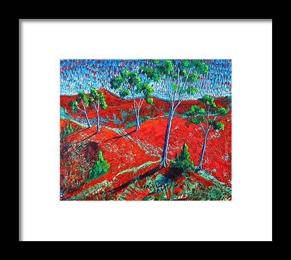 Landscape Framed Print featuring the painting Life Carries On by Rollin Kocsis