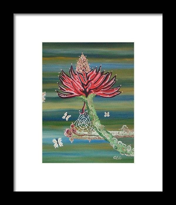 Flower Framed Print featuring the painting Life Cycles by Carolyn Cable