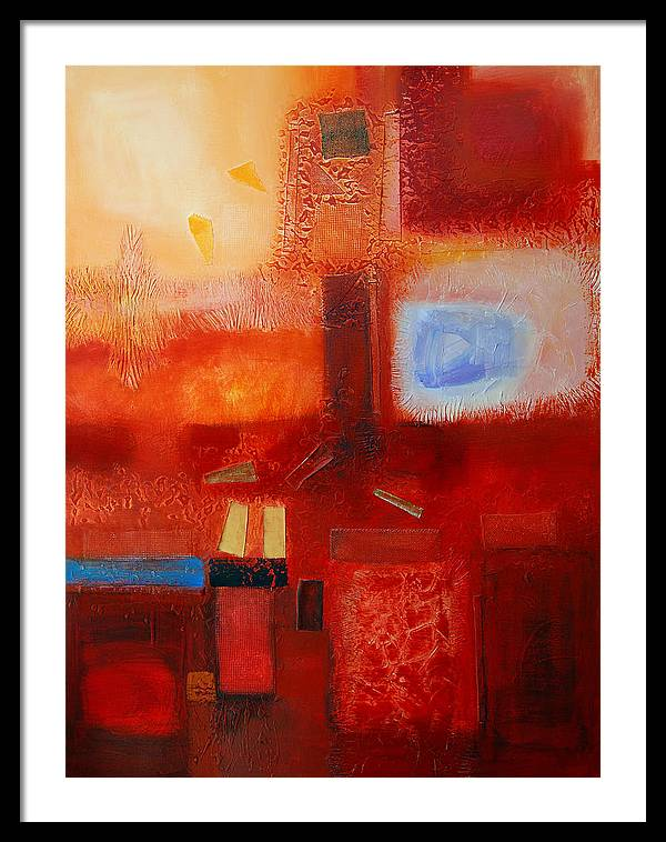 Framed Print featuring the painting Life by Farhan Abouassali