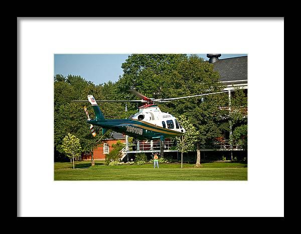 Emergency Framed Print featuring the photograph Life Flight Training by Faith Harron Boudreau