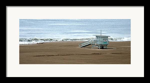 Beach Framed Print featuring the photograph Life Guard Stand - Color by Shari Chavira