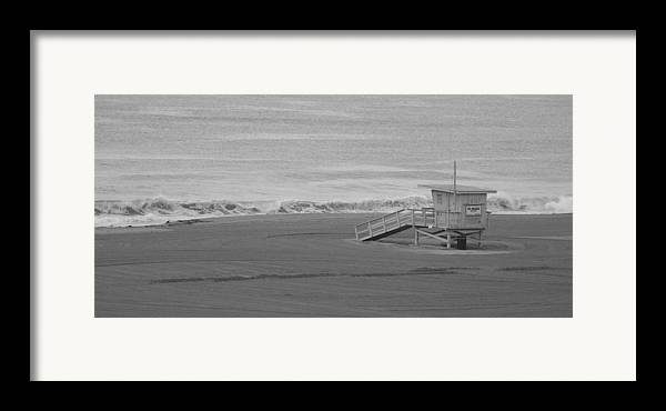 Beaches Framed Print featuring the photograph Life Guard Stand by Shari Chavira