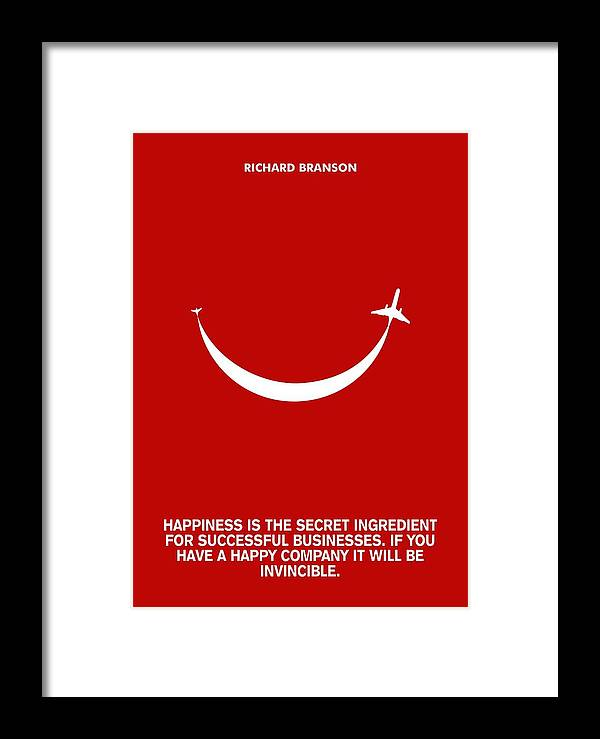 Life Happiness Quote Richard Branson Quotes Poster Framed Print By Simple Life Quote Poster