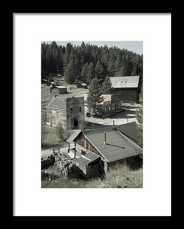 Ghost Towns Framed Print featuring the photograph Life in a Ghost Town by Richard Rizzo