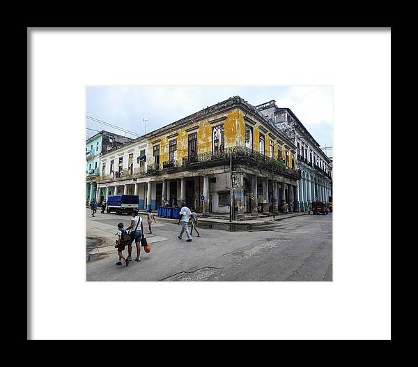 Old Framed Print featuring the photograph Life In Old Town Havana by Marge Sudol