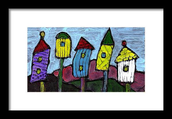 Bird Framed Print featuring the painting Life In The Subirds by Wayne Potrafka