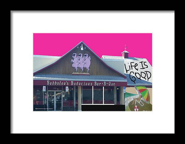 Digital Montage Framed Print featuring the digital art Life Is Good by Michael Chatman