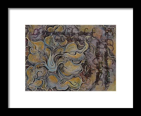 Floral Framed Print featuring the drawing Life Is Not Measured... by Christine Wagner