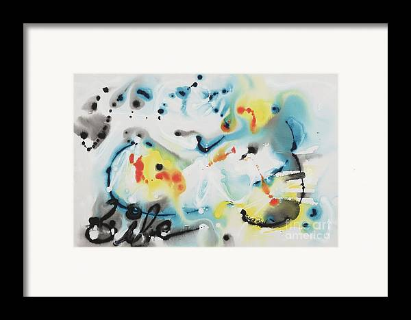 Life Framed Print featuring the painting Life by Nadine Rippelmeyer