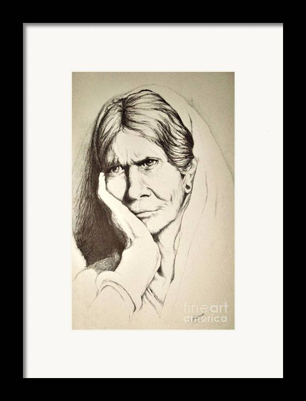 Character Study Framed Print featuring the drawing Life by Stephanie H Johnson