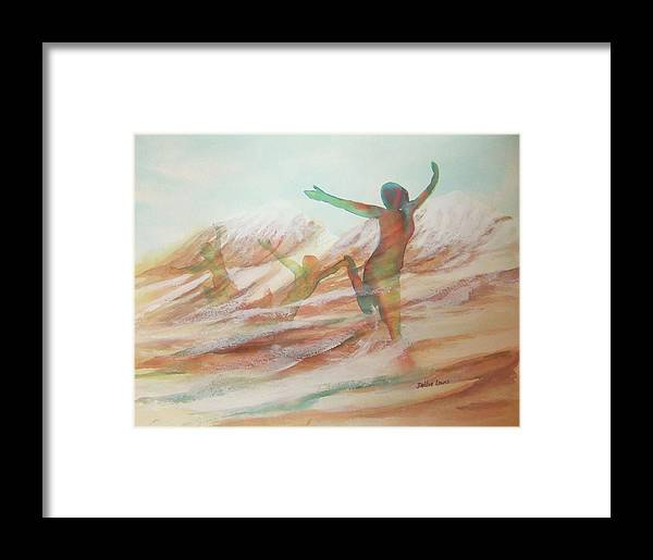 Watercolor Landscape Framed Print featuring the painting Life Transcendent by Debbie Lewis
