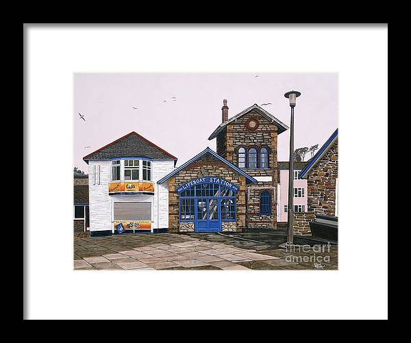 England Framed Print featuring the painting Lifeboat Station by Jiji Lee