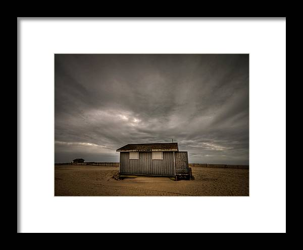 Beach Framed Print featuring the photograph Lifeguard Shack by Evelina Kremsdorf