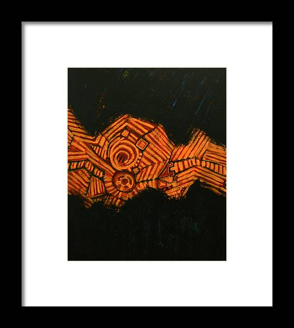 Symbols Framed Print featuring the painting Lifeline by Robens Napolitan Tom Kramer