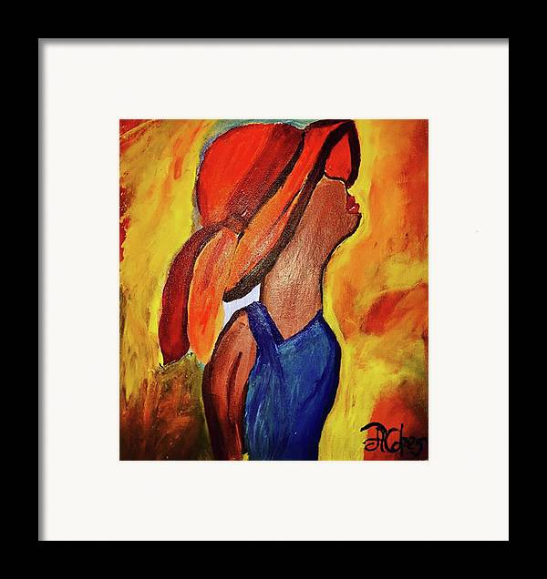 Faith Framed Print featuring the painting Lift My Eyes To The Hills by Angela Holmes