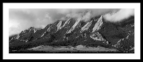 Lifting Clouds Over The Flatirons - Boulder, Colorado by Susan Rigdon - Ervin