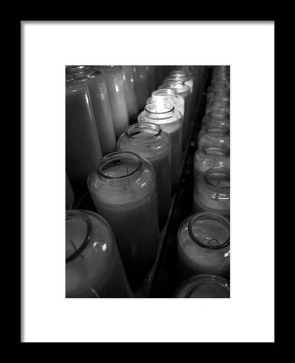 Black Framed Print featuring the photograph Light A Candle by Michele Stoehr