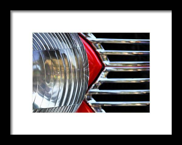Car Framed Print featuring the photograph Light And Grill by Dan Holm