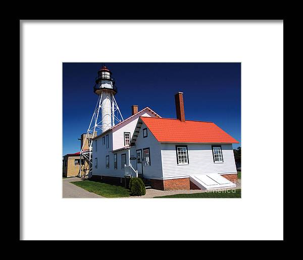 Lighthouse Framed Print featuring the photograph Light At Whitefish Point by Chuck Kugler