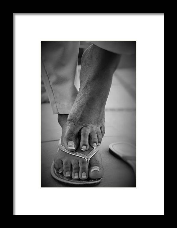Barefeet Framed Print featuring the photograph Light Brown 14 by Christopher White