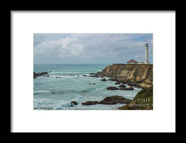 Landscape Framed Print featuring the photograph Light House by Cassandra Steele