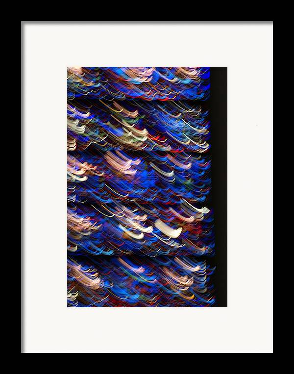 Stined-glass Framed Print featuring the photograph Light In A Stained-glass by Helene Champaloux-Saraswati