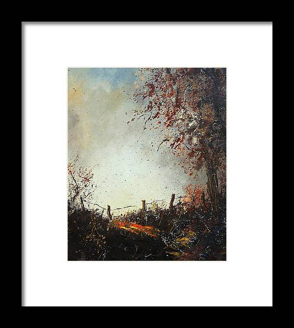 Tree Framed Print featuring the painting Light In Autumn by Pol Ledent