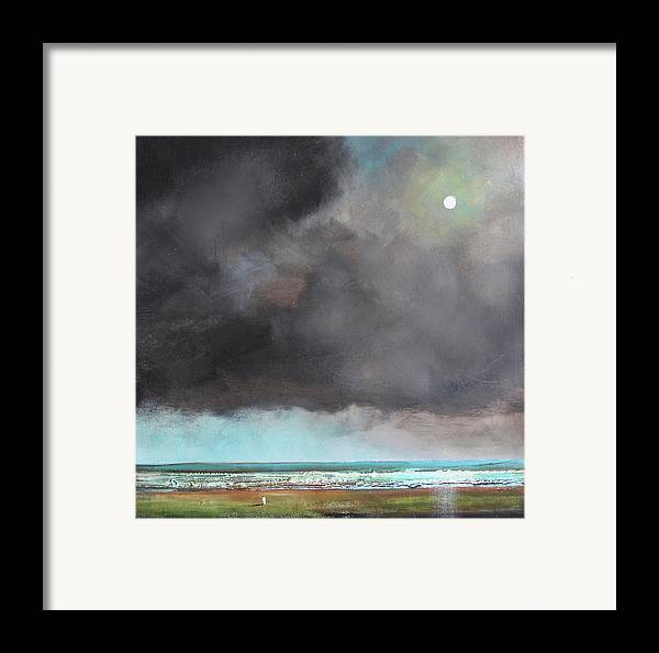 Storm Framed Print featuring the painting Light Of Hope by Toni Grote