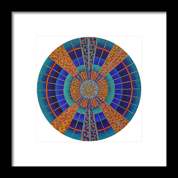 Mandala Framed Print featuring the painting Light Of Knowing by Charlotte Backman
