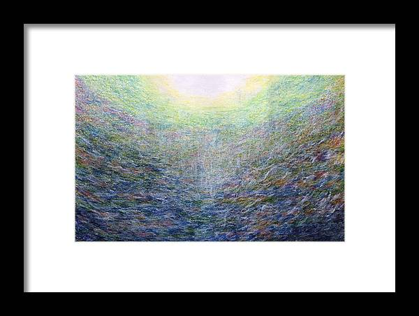 Fine Art Framed Print featuring the painting Light Picture 222 by SOBATA Satosi