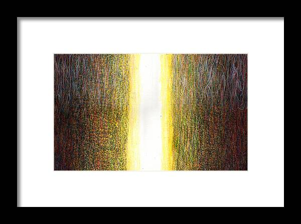 Fine Art Framed Print featuring the painting Light Picture 240 by SOBATA Satosi