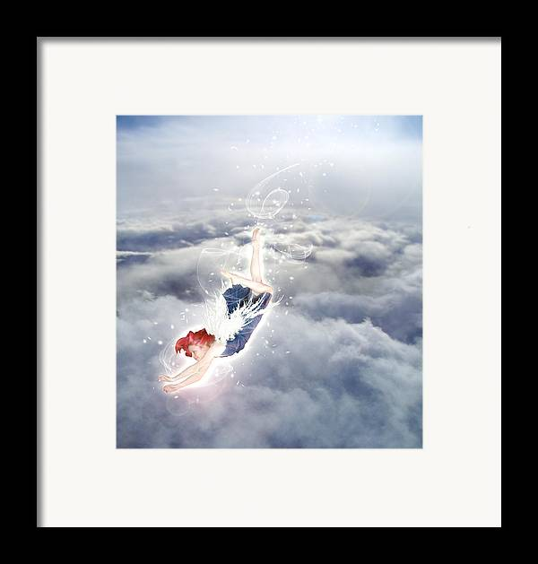Angel Framed Print featuring the digital art Light Play Angels Descent by Nikki Marie Smith