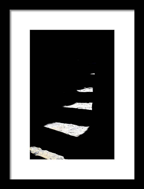 Stairs Framed Print featuring the photograph Light Play by Miron Abramovici