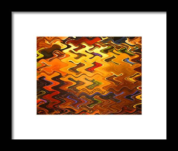 Digital Framed Print featuring the painting Light Rising by Vicky Brago-Mitchell