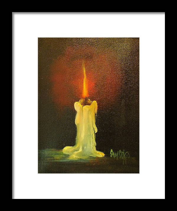 Candles Framed Print featuring the painting Light The Way by Sally Seago
