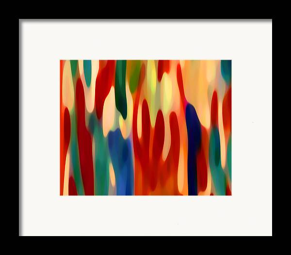 Abstract Art Framed Print featuring the painting Light Through Flowers by Amy Vangsgard