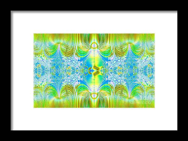 Digital Framed Print featuring the digital art Light Through The Curtains by Thomas Smith