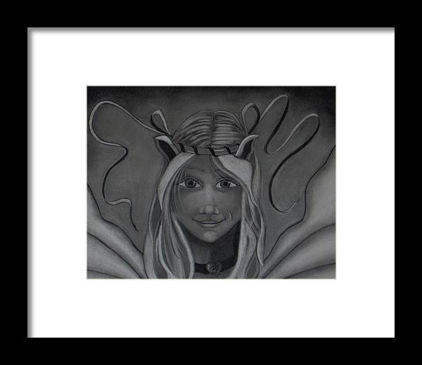 Fairy Framed Print featuring the drawing Light Up The Darkness by Tori Reynolds