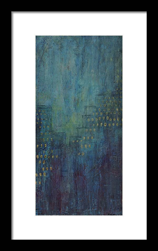 Canvas Print Framed Print featuring the painting Light Up The Night by K Batson Art