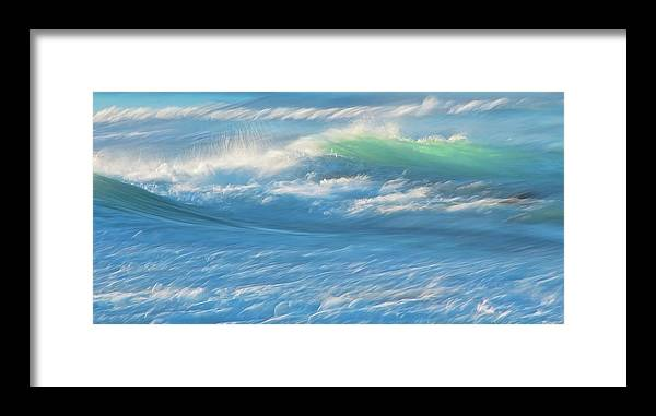 Nature Framed Print featuring the photograph Light Wave at Asilomar, Pacific Grove, California by Zayne Diamond Photographic