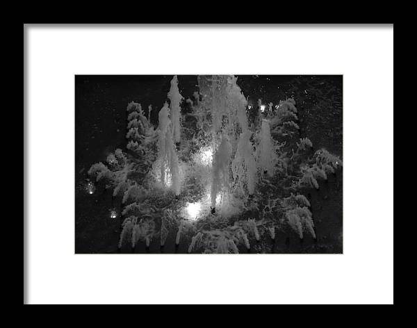 Fountian Framed Print featuring the photograph Lighted Star Fountian by Rob Hans