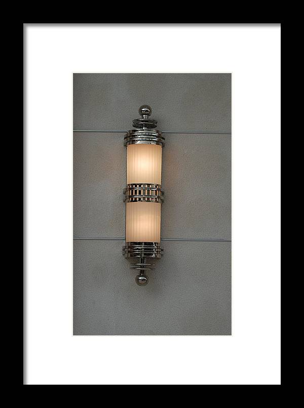 Sconce Framed Print featuring the photograph Lighted Wall Sconce by Rob Hans
