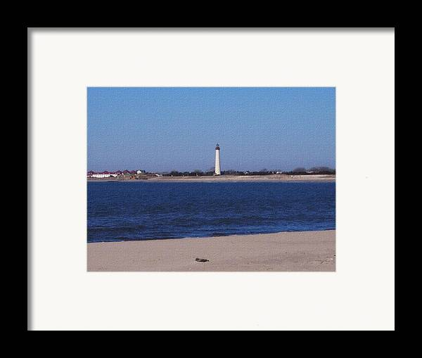 Lighthouse Framed Print featuring the photograph Lighthouse At The Point by Pharris Art