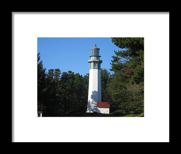 Framed Print featuring the digital art Lighthouse by Barb Morton