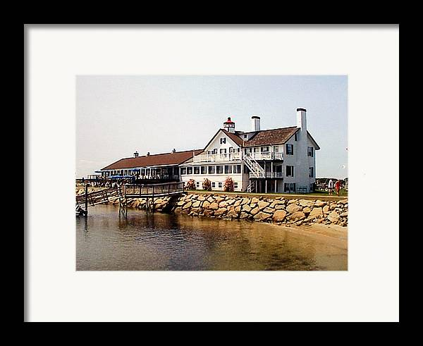 Landscape Photographs Framed Print featuring the photograph Lighthouse Inn At Bass River by Frederic Kohli
