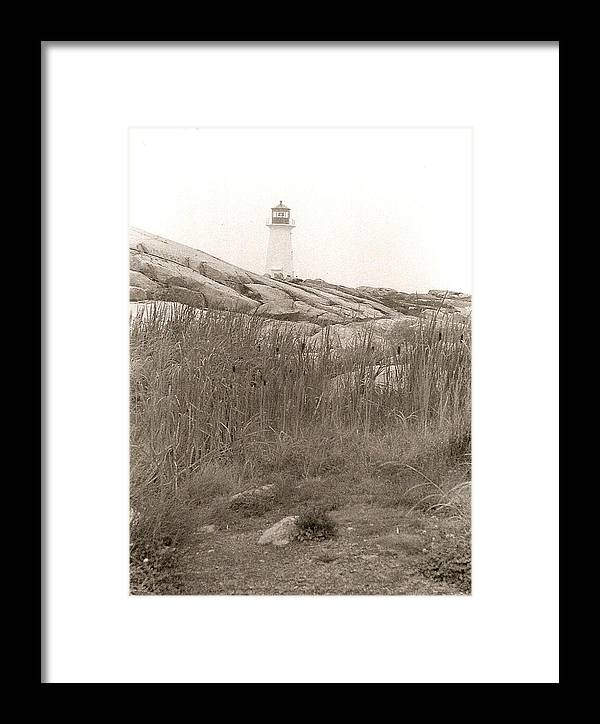 Photograph Framed Print featuring the photograph Lighthouse Nova Scotia by Patricia Bigelow
