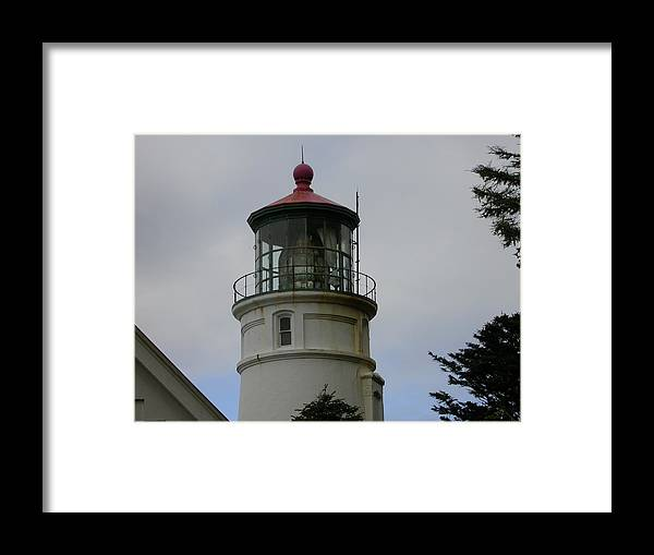 Landscape Framed Print featuring the photograph Lighthouse by Yvette Pichette