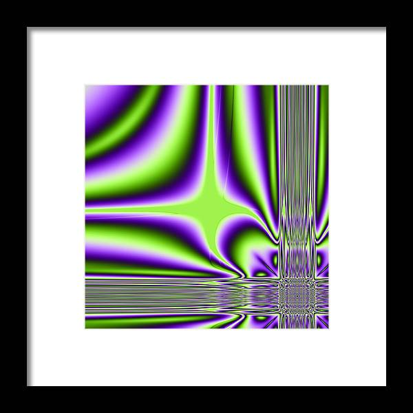 Algoritmic Framed Print featuring the digital art Lighting by Sfinga Sfinga