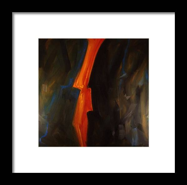 Abstract Painting Abstract Paintingsabstract Paintings Multi Colour Paintings Multi Colour Canvas Prints Abstract Canvas Prints Abstract Greeting Cards Framed Print featuring the painting Lightning by Chris Riley