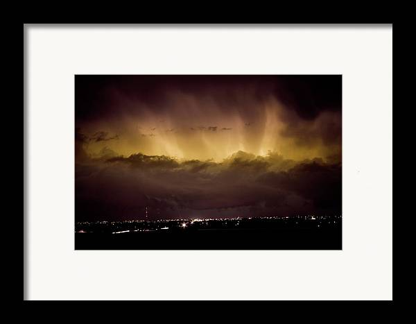 bo Insogna Framed Print featuring the photograph Lightning Cloud Burst Boulder County Colorado Im29 by James BO Insogna
